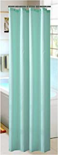 Solid Color Shower Curtain Waterproof mildewproof Bath Curtain Rust-Resistant Metal Grommets Top Fabric Shower Curtain D40,Green,120x180cm