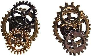 【steampunk】歯車 ギア スチームパンク ピアス ミックスカラー