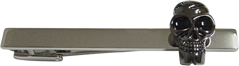 Dark Grey Toned Skull Square Tie Clip