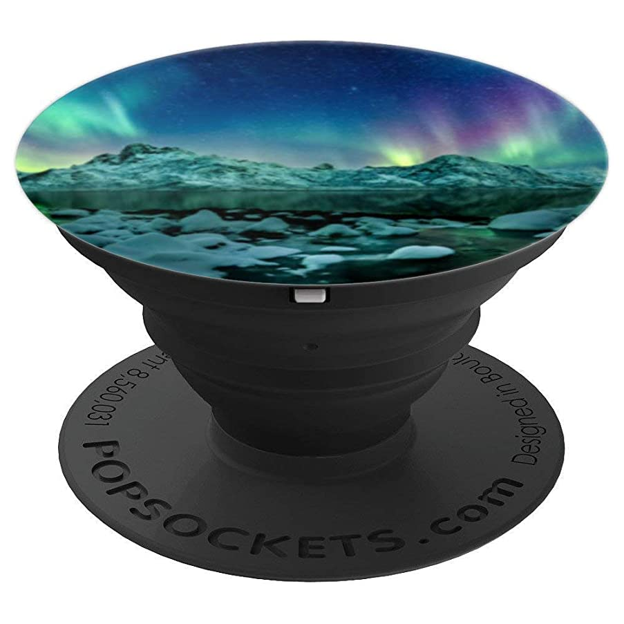 Northern Lights Aurora Borealis Alaska Space Cool Colorful - PopSockets Grip and Stand for Phones and Tablets