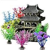 ODOOKON Ornamente für Aquarien Altes Gebäude im orientalischen Stil, Aquarium Deko Aqua Ornaments...