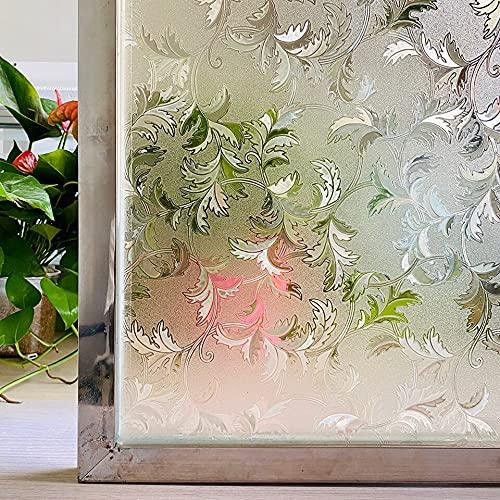 Película de Ventana antiestática, Pegatina de Vidrio de privacidad Esmerilado de Vinilo, Adecuada para baño Familiar, Cocina, Dormitorio, balcón P 45x300cm