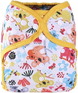 One Size Fit All Baby Reusable Waterproof Diaper Nappy Cover Double Gussets (Color NO20)