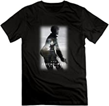 Men's Animation Psycho-Pass The Movie Poster Crew-Neck T-Shirt Black