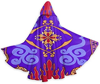 QDL Magic Inspiral Carpet Hooded Cape for Adults   Men's Woman's Cloak with Hood for Halloween Cosplay Costume