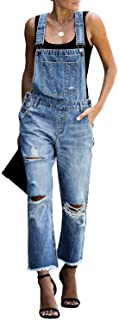 Women's Casual Stretch Adjustable Denim Bib Overalls...