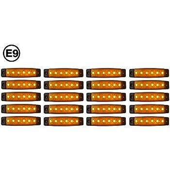 A1 20 X Led 24v Orange Begrenzungsleuchte Positionsleuchte Seitenmarkierungsleuchte Lkw Amazon De Auto