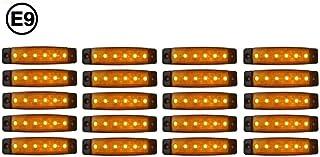 rechts LED Begrenzungsleuchte Umrissleuchte LINKS ECE T/ÜV 12V 24V 17cm Positionsleuchte mit P2G-Flachkabel