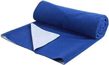 Trance Home Linen Kids/Baby Dry Sheets/100% Waterproof/Soft/Bed Protector/Breathable/Underpad (Large, Ink Blue)