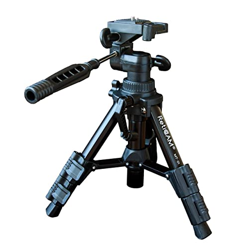 RetiCAM Tabletop Tripod with 3-Way Pan/Tilt Head, Quick Release Plate and