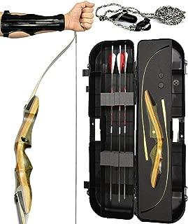 Spyder and Spyder XL Takedown Recurve Bow - Ready 2 Shoot Archery Set   Includes Bow, Premium Carbon Arrows, Recurve Bow Case, Stringer Tool, Armguard