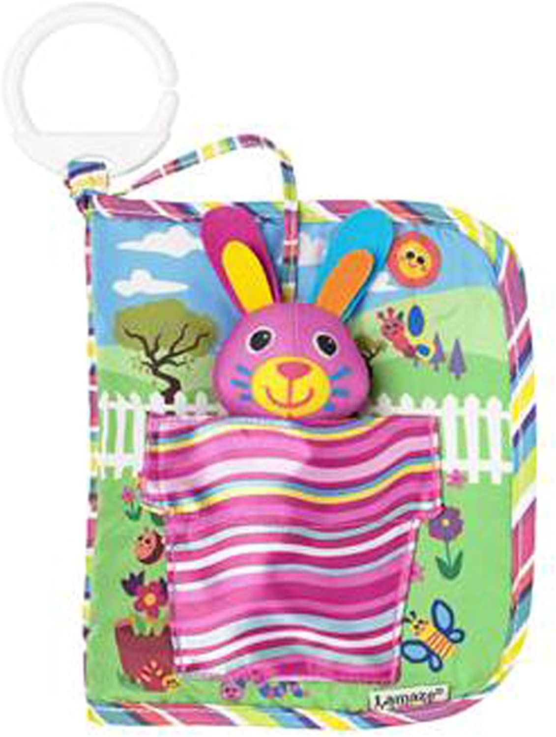 Hideandseek with the Picture Book Rabbit Lamaze Cloth