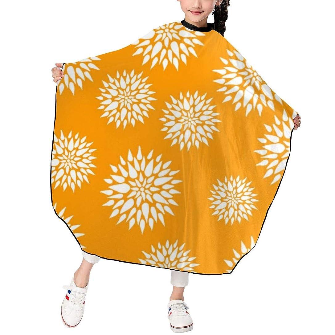 好ましいクールアンカーWM-LFWQ カットケープ 散髪ケープ カットクロス スタイリング 花柄 植物柄 スモック カバー ヘアカットケープ 刈布 美容室 理容室 折りたたみ式 子供用 家庭用 理髪店向け 120*100cm