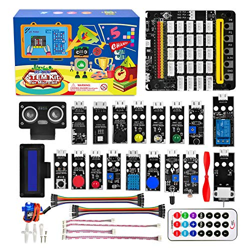 OSOYOO Starter Kit for BBC Micro:bit | Early STEM Education for Beginners and Kids | Ultimate Bundle Includes Plug & Play Development Board, 20 Sensors & More | Create Circuits and Integrate With Toys