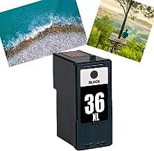 Ouguan® 1X (1 Negro) remanufacturado Cartucho de Tinta Lexmark 36 37 Compatible con Lexmark x3650 x 4650 x 5650 x 6650 x 6675 Z2420 Impresora.
