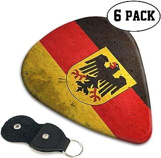 Irene Merritt Guitar Picks- German Flag With The German Eagle Guitar Picks With Leather Cases Bag £¨6 Pack£