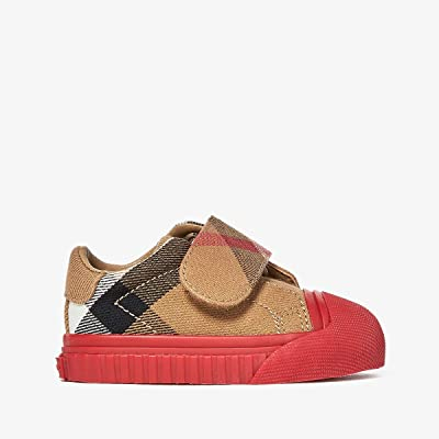 Burberry Kids Beech Check Trainer (Infant/Toddler) (Classic/Parade Red) Kid