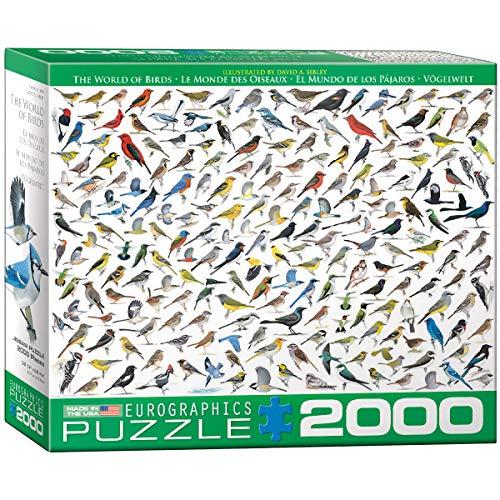 Eurographics 'El Mundo de las Aves por David Sibley' Puzzle (2000 piezas, Multi-Color) , color/modelo surtido