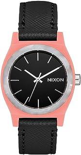Nixon Medium Time Teller Leather Watch - Peach/Black