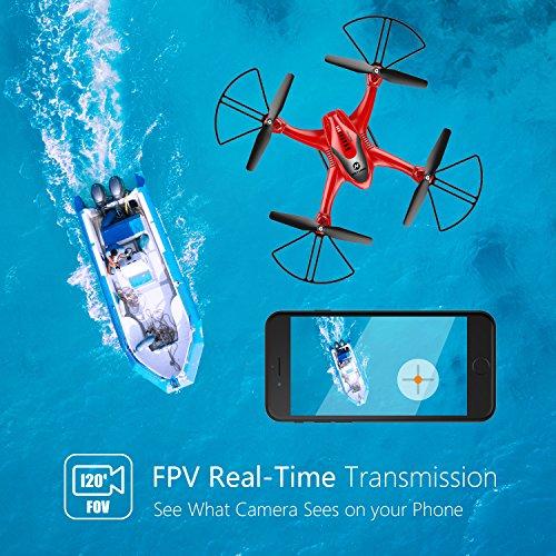 Holy Stone HS200D FPV RC Drone con cámara 720P 120 ° FOV Video en vivo WiFi Quadcopter para principiantes ...
