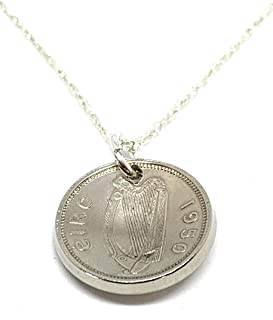 53rd Birthday Irish 3d coin pendant plus 18inch Sterling Silver chain gift