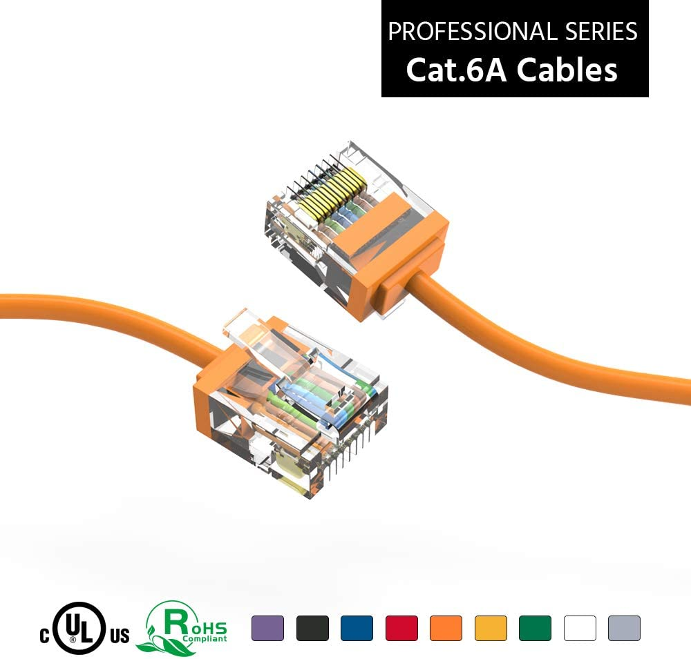 ACCL New Orleans Mall 1.5Ft Cat6A UTP Super-Slim 32AWG Ethernet Ora Cable sale Network