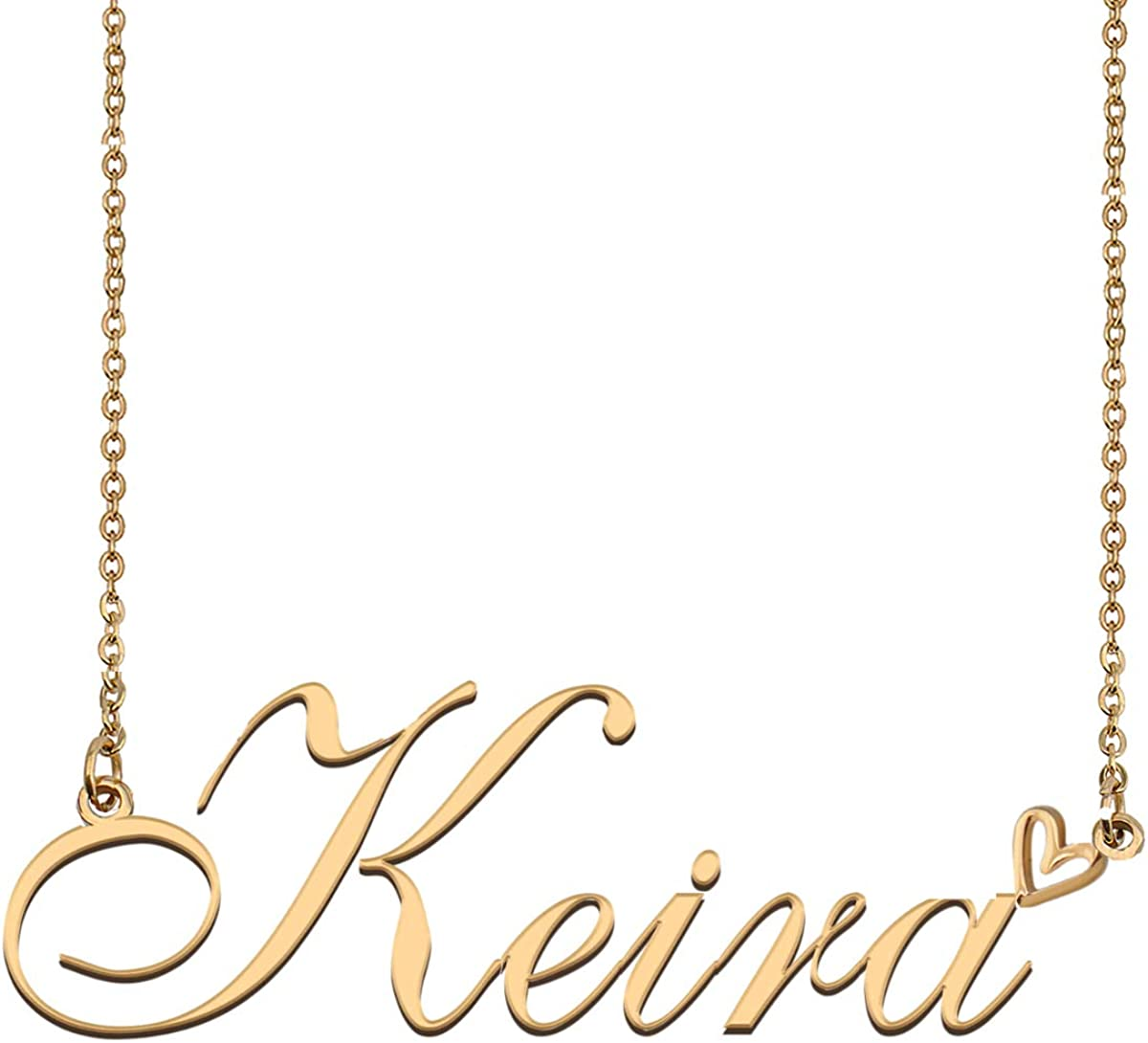 Dancing Wolf Custom Name Necklace 18K Gold Plated Pers Nameplate At the price of surprise Fashion