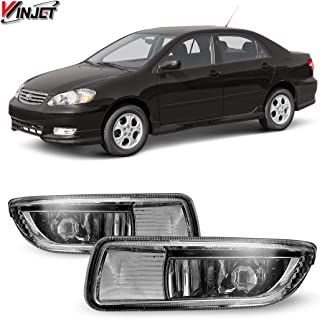 Winjet WJ30-0177-09 OEM Series for [2003-2004 Toyota Corolla] Clear Lens Driving Fog Lights TO2592107 TO2593107