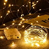 LED alambre de cobre plateado con pilas LED luces navideñas impermeables cadena de luces para fiestas navideñas A4 2m20 leds usb