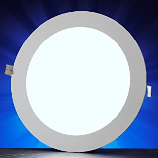 Auraglow 12w LED Circle Slim Panel Downlight Luz de techo de oficina - Cool White 6500K - 900 Lumens - 62w EQV - 170mm