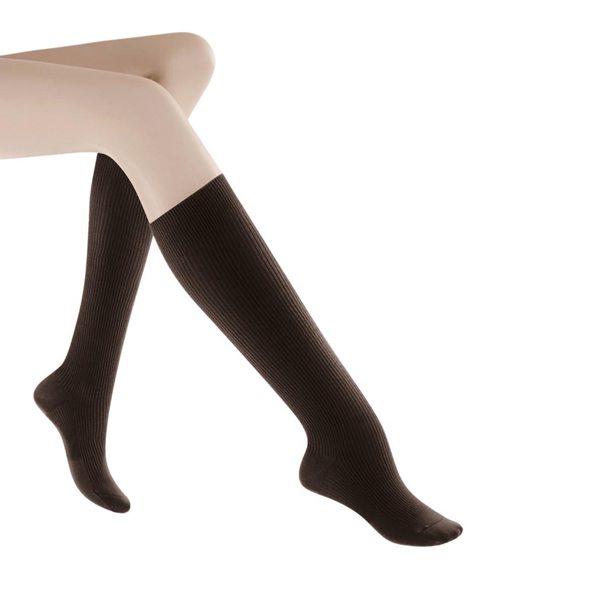 伝統タール不十分Women's Casual Cotton 15-20mmHg Closed Toe Knee High Sock Size: B (7.5-9.5), Color: Brown 11 by Sigvaris