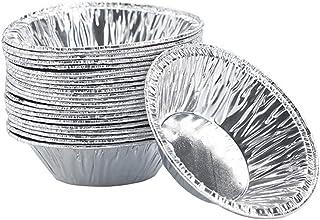 250 PCS Disposable Aluminum Tin Foil Egg Tart Mold Round Cupcake Cookie Bakeware Fruit Tartlets Pie Tins Pans Tray for Hom...