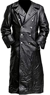 Corriee Gift Idea Mens Medieval Vintage Long Leather Jacket Fall Winter Coats