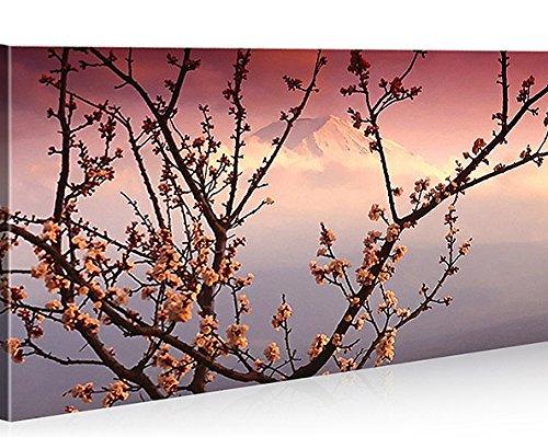 Cuadro moderno Japón Blossom Feng Shui Impresión sobre lienzo - Cuadro para sillones, salón, cocina, muebles, oficina, casa, fotografía formato XXL