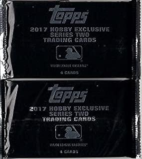 2 PACKS: 2017 Topps Series 2 MLB Baseball HOBBY EXCLUSIVE 'Silver' black packs