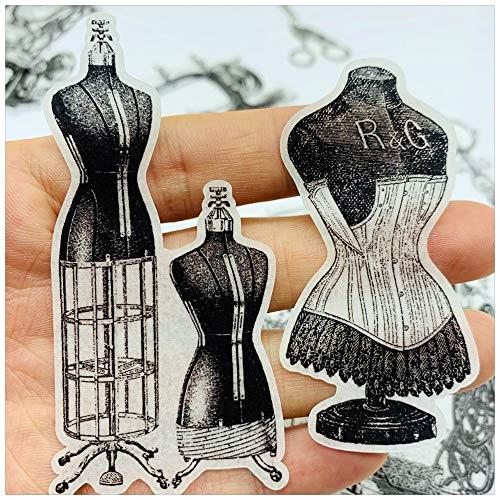 BLOUR Vintage zwart wit naaimachine schaar sticker DIY ambachtelijk scrapbooking album dagboek planner decoratieve stickers 22pcs / Pack