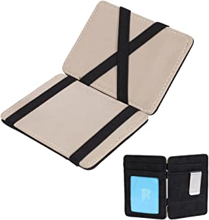 Epoint Men's Fashion Multicolored Solid Leather Mens Magic Wallet and Credit/ID Case