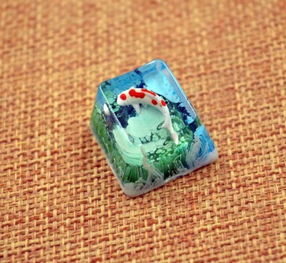 Mugen Custom Koi Fish Sale price Blue Nature for MX overseas Resin Keycaps Sw Cherry