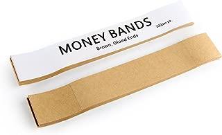 Natural Kraft Brown No Denomination Currency Band Bundles (100 Bands)