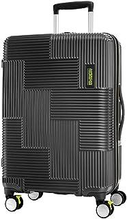 American Tourister 124731 Velton Hard Side Spinner Luggage, Black/Lime Green, 69 Centimeters