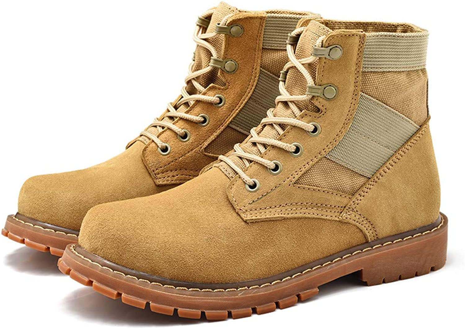 Easy Go Shopping Men's Ankle Boots Casual Personality OX Leather Large Size Suede High Top Work shoes Cricket shoes