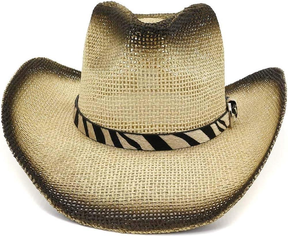 sun hats Straw Cowboy Hat for Women Men Western Paint Outdoor Su