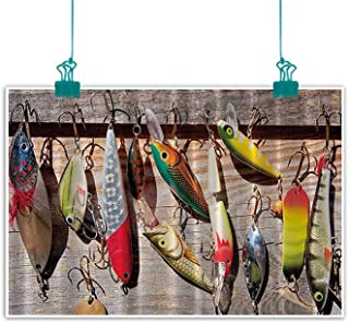 funkky Fishing Wall Art Decor Poster Painting Lure Rods Fisherman Gifts Special Impressive Design for Fisherman Creative Exceptional Decorations Home Decor 28