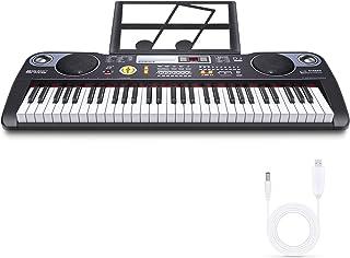 Tastiera di Pianoforte Tastiera Musicale Piano Tastiera Digitale Portatile Digital Keyboard con 61 Tasti,Casse Integrate e...