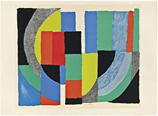 Berkin Arts Sonia Delaunay Giclee Print On Canvas-Famous Paintings Fine Art Poster-Reproduction Wall Decor(Terk Drakar) Large Size 31.5 x 23.9 inches #DFB