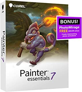 Corel | Painter Essentials 7 | Digital Art Suite | Amazon Exclusive includes FREE PhotoMirage Express valued at $49 [PC Disc]