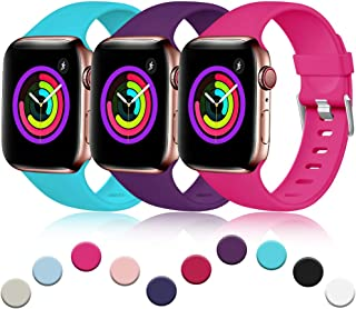 Haveda Sport Bands Compatible for Apple 4 Watch 40mm 44mm Series 4 Series 5, iWatch Bands 38mm 42mm Womens, Waterproof Wrist Band for iWatch, Apple Watch Series 3, Series 2/1 Man Small Large