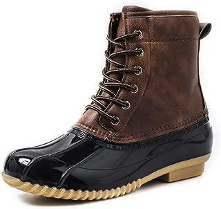 Botas De Lluvia,Pato Caza Hipster Botas Botas De Lluvia Cosido Marrón Invierno Cálido Anti-Skiing Agregar Algodón Impermeable Zapatos De Nieve Mujeres Botas Suaves Y Cómodos De Calzado Femenino