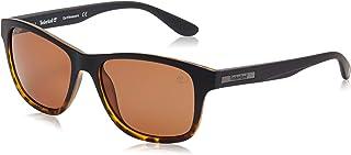 نظارات شمسية للرجال من تيمبرلاند TB908905H55 - اسود - مدمجة