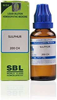 SBL Homeopathy Sulphur (200 CH) (30 ML) by Qualityexports